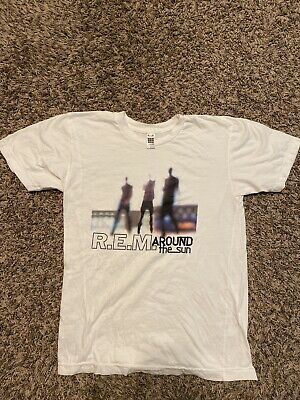 REM R.E.M. Around The Sun White Shirt American Apparel Size S Small • 14.31£