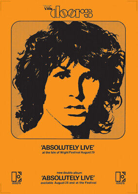 The Doors Poster - Absolutely Live On Elektra Records 1970 New Reprinted Edition • 14.99£