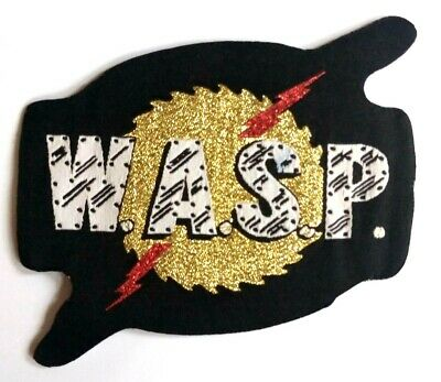 W.A.S.P - Logo - Woven Patch Sew/Iron On Rare WASP Aufnäher écusson Blackie • 4.74£