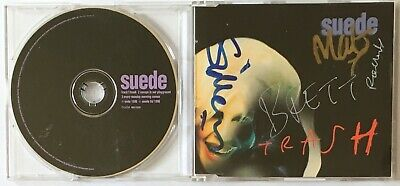 Suede  Trash  1996 UK CD + Fully Autographed Inlay • 24.99£