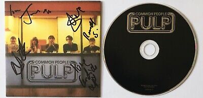 Pulp  Common People  1995 UK Promo CD + Fully Autographed PS • 49.99£