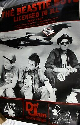 The Beastie Boys Extra Large Poster. Licensed To Ill Tour 1987. 50 H X 37 W • 10£