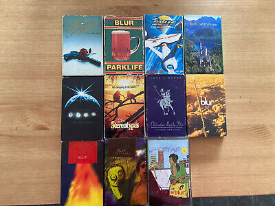 Blur Cassette Tape Singles Collection 1994-2000 & VHS Tour Film 'Starshaped' • 70£