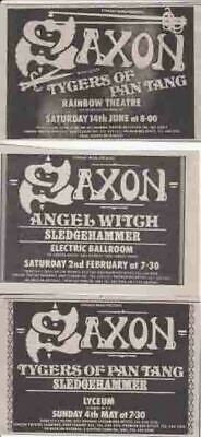 SAXON : 3 Small CONCERT ADVERTS - 1980  • 2.50£