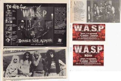 W.A.S.P. : CUTTINGS COLLECTION - Adverts  • 2.95£