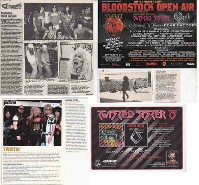 TWISTED SISTER : CUTTINGS COLLECTION - Adverts Interview  • 3.55£
