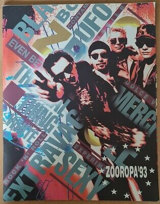 U2 Zooropa 1993 Tour Programme (Complete With Bank Notes And Labels) VGC • 49.99£