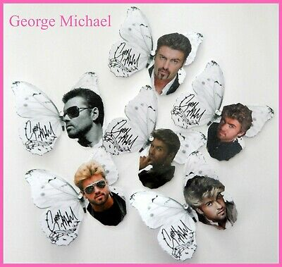 George Michael Decor, George Michael Memorabilia, 3d Butterflies, Pop Star,Wham • 12£