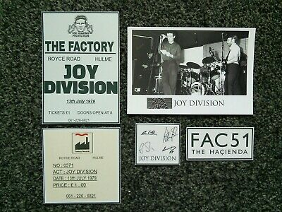 Joy Division Signed Photo Cards Fac51 Hacienda Manchester • 1.50£