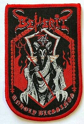 BEHERIT - Unholy Blessings - Woven Patch Sew On Rare Black Metal Aufnäher Toppa • 5.50£