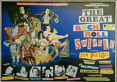 The Sex Pistols  The Great Rock N Roll Swindle Large Vintage Poster  • 18£