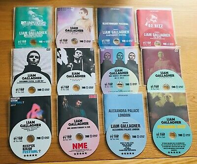 Liam Gallagher 12 X Live DVD's 2019 - 2017 - Oasis Related Gigs • 35£