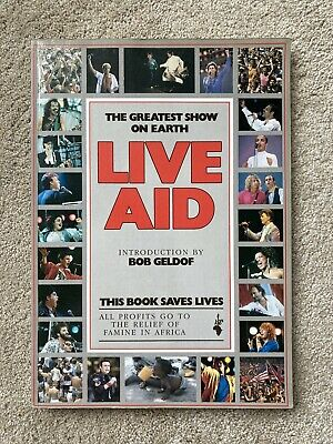 LIVE AID - 1985 OFFICIAL BOOK. Good Condition • 40£