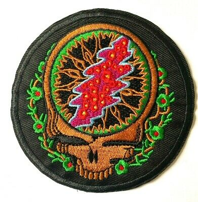 GRATEFUL DEAD - Embroidered Patch Sew Iron On • 2.95£