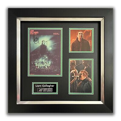 Liam Gallagher Hand Signed Framed Display - Mtv Unplugged - Oasis 2. • 174.99£