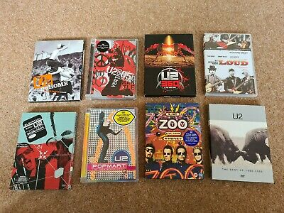U2 DVD X8 Joblot Collectables Rare Memorabilia Live Documentry • 25£