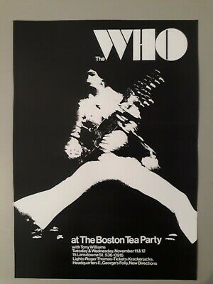 The Who Poster - Live At The Boston Tea Party 1969 New Reprinted Edition A3 Size • 3.99£