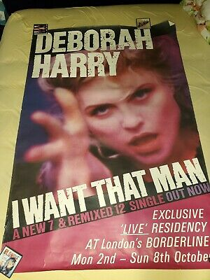 Debbie Harry Subway Poster Lot I Want That Man Strike Me Pink Blondie 5ft Tall • 160.93£
