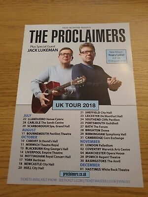 The Proclaimers Tour Flyer • 0.99£