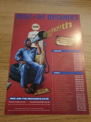 Mike And The Mechanics Tour Flyer • 0.99£