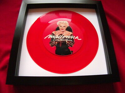 Madonna You Can Dance Red Vinyl   Replica 7  Record Vinyl Framed  Ideal Gift  • 22.99£