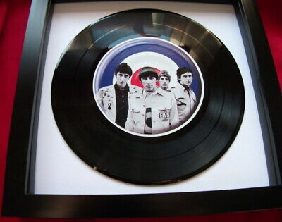 The Who Target Scooter Mod Unique  Replica 7  Vinyl Framed  Ideal Gift Quality  • 16.99£