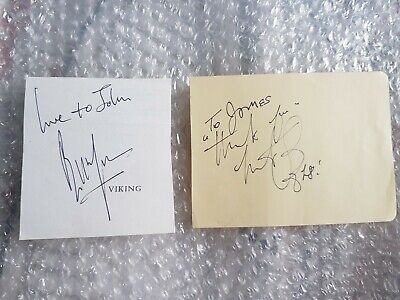 The Rolling Stones Signed Bill Wyman And Charlie Watts Page Cuts  • 79£