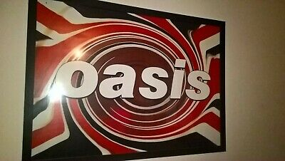 Oasis Union Jack Swirl VINTAGE 1994 Poster 23.4 X 33.1 In PROMO REPRO Gallagher • 17£