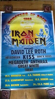 Iron Maiden Poster  Monsters Of Rock  1988 • 10£