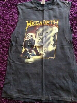 Rare Megadeth Monsters Of Rock 1988 Sleeveless Tshirt • 85£