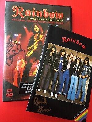 Rainbow Signed Autographed DVD Ritchie Blackmore • 45£