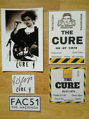 The Cure Robert Smith Signed Photo Cards Fac51 Hacienda Manchester Factory • 1.50£