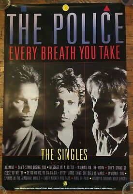 The Police 1986 Every Breath You Take- The Singles RARE Vintage Promo Poster • 7.41£