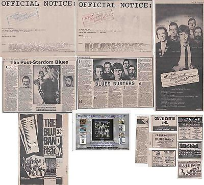 THE BLUES BAND : CUTTINGS COLLECTION - Adverts Interviews  Paul Jones • 5.79£