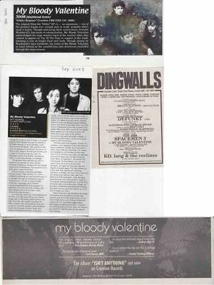 MY BLOODY VALENTINE : CUTTINGS COLLECTION - Adverts  • 2.99£