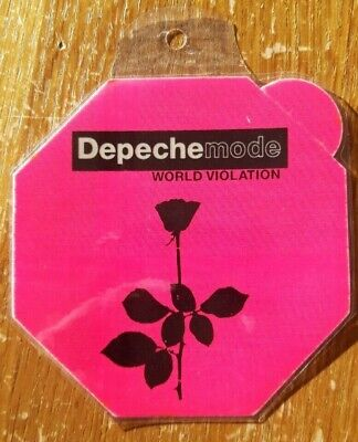 Depeche Mode Backstage Pass, Dayglow Pink Hexagon World Violation • 9.99£