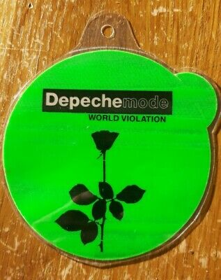 Depeche Mode Backstage Pass, Dayglow Green Round World Violation • 9.99£