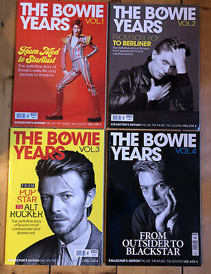 David Bowie The Bowie Years Magazine - Complete 4 Volumes. New. • 60£