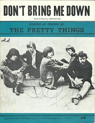 Sheet Music - The Pretty Things 'don't Bring Me Down'  1964 Uk Original Issue  • 15£