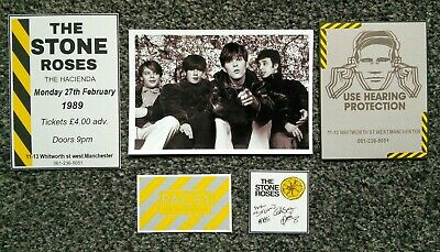 The Stone Roses Signed Hacienda Fac51 Photo Display  • 1.50£