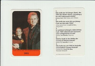 Music : Johnny Cash : Interesting German Collector Game Card • 1.20£