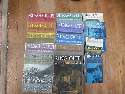 15 Sing Out Magazines- Folk From 1960's • 10£