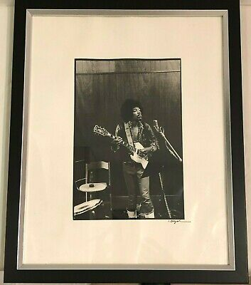 Jimmy Hendrix Original Black & White Photo Signed By The Photographer Chuck Boyd • 385£