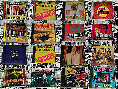 SeX PiSTOLs Cd Bundle 70s Punk Rock Anarchy In The Uk And Some Product • 19.99£