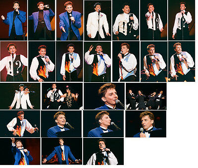 25 Barry Manilow Colour Concert Photographs - Birmingham On 5th November 1994 • 7.49£