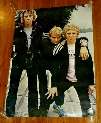 THE POLICE Vintage 1980 Poster 27X39 STING Andy Summers STEWART COPELAND • 12.52£