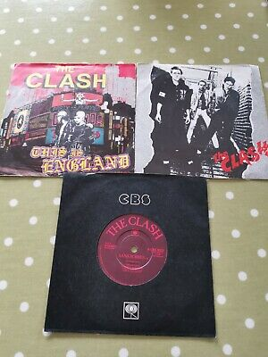 The Clash X 3 Singles, Remote Control, Bankrobber, And This Is England.  • 13£
