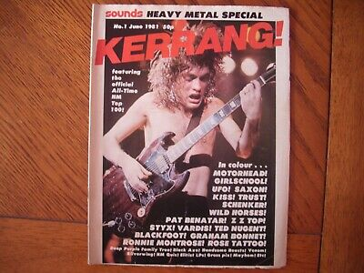 Ac/dc Kerrang Issue Number 1 June 1981 Angus Young #1 • 29.99£