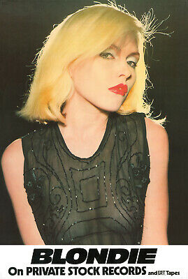Blondie Poster - First Promo 1976 On Private Stock Records Large Size Reprint • 19.99£