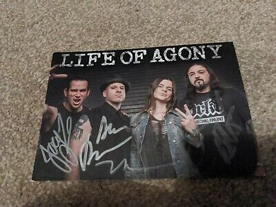 Life Of Agony Signed Postcard (14.5cm X 10.5cm) Approx • 15£